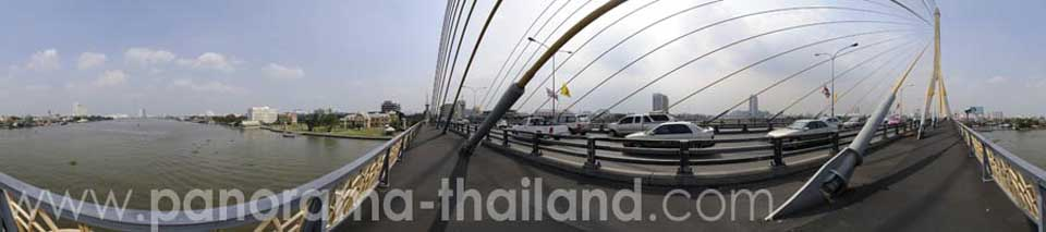 Thailand 360° Panorama Rama VIII Bridge