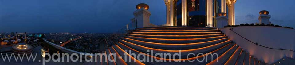 360° panorama Sky Bar at State Tower Bangkok