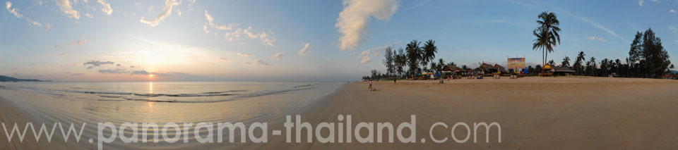 360° panorama Bang Niang Beach Khao Lak