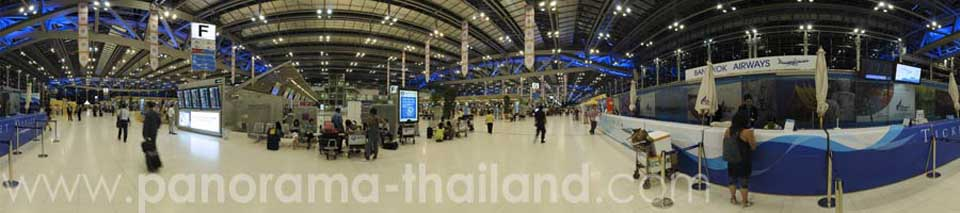 Thailand 360° Panorama Airport Ticket Counter